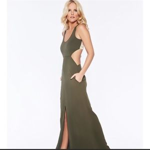 L Space Daybreak Maxi Dress- Olive
